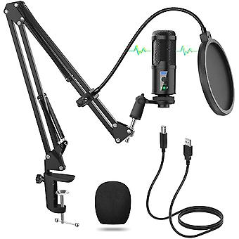 FengChun USB Mikrofon, Laute Einstellbarstrke PC Mikrofon, Professionelle 192KHZ/24Bit Aufnahme
