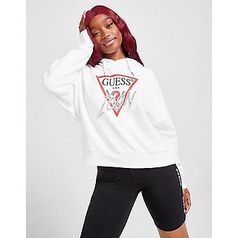 New GUESS Women's Icon Logo Hoodie White