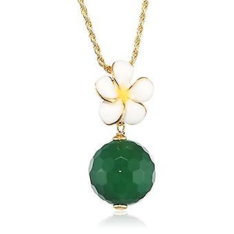 MISIS Women's Necklace Everglades Silver 925 Agate Green Enamel 48.1 cm - CA07857BI