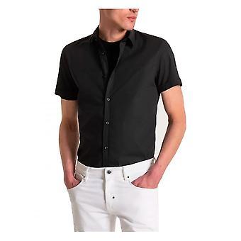 Antony Morato Short Sleeve Milano Shirt Slim Fit In Black