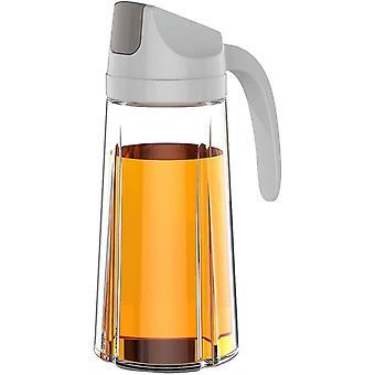 FengChun Ölflasche Essigflasche Auto-Flip-Schutzkappe 22 OZ (630ml) Grau