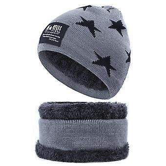 Thicken Hedging Cap Pentagram Bongrace Hat Unisex 2 Pieces Set