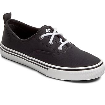 Sperry Crest Cvo Ladies Canvas Casual Trainers Black