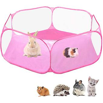 Small Animals Cage Tent, Breathable & Transparent Pet Exercise Fence