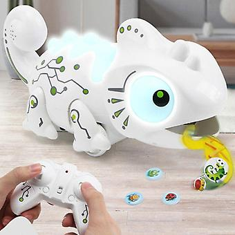 Remote control toy chameleon & Tyrannosaurus effects and predation functions|RC Animals