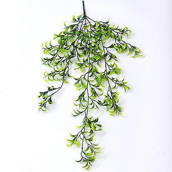 Artificial plant gladiolus leaf rattan plastic fake green plants 3pcs