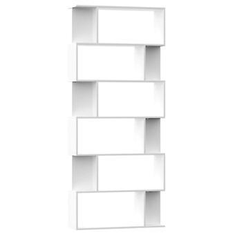 vidaXL Bücherregal/Raumteiler Weiß 80×24×192 cm Spanplatte
