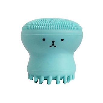 2Pcs green octopus shape silicone face cleansing brush,skin care cleaning instrument brush az4569