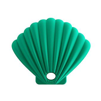 3Pcs dark green shell shape silicone mask storage box, dustproof and waterproof for repeated use az17412