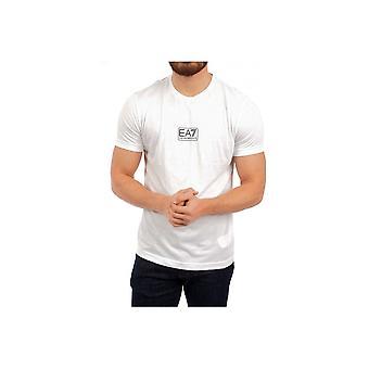 Emporio Armani EA7 Cotton Printed Logo White T-shirt