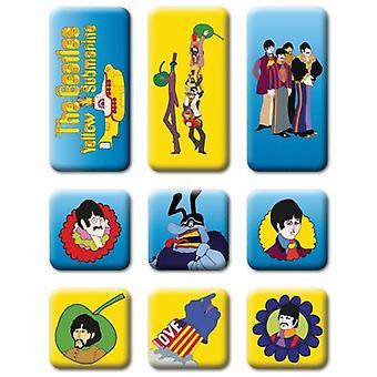 The Beatles - Gele Onderzeeër Koelkast Magneet Set