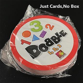 חדש opp(מספר 123) dobble נקודה זה צעצוע כרטיס ללכת קמפינג ילדים היפ לוח משחק sm37583