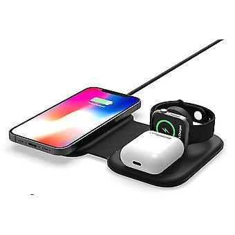 15W opvouwbare magnetische draadloze oplader, 3 in 1 snellader voor apple iphone iwatch airpods az11778