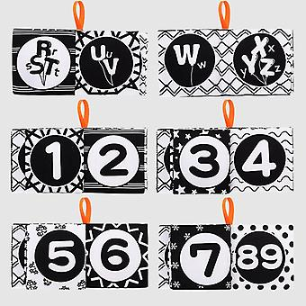 Fabric Baby Cloth Activity Soft Black And White Books
