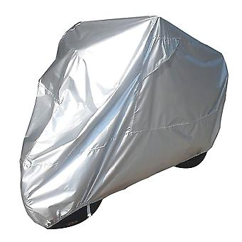 Bike It Motorcycle Rain Cover - Silver - XL Fits 1200cc And Over
