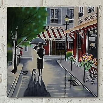 Side ved side 8x8 romantisk spasertur ved B Heighton Wall Art