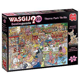 Wasgij Destiny 23 Theme Park Thrills Jigsaw Puzzle (1000 Pieces)