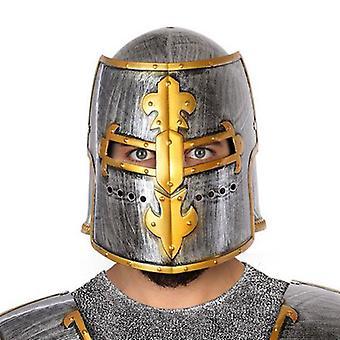 Elmo medievale argento dorato