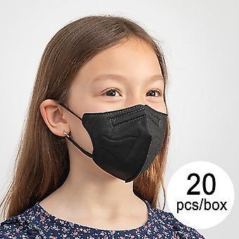 Andningsmask FFP2 NR HC005 Barnsvart (Paket om 20)