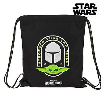 Backpack with Strings The Mandalorian Black Green