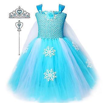 Prinzessin Kleider Mädchen Kostüme Geburtstagsparty Halloween Kostüm Cosplay Dress Up Für kleine Mädchen(2