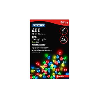 Status Dornbirn 400 LED String Lights - Multicoloured, 32m