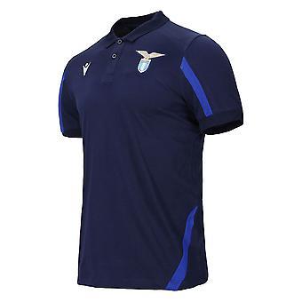 2021-2022 Lazio Cotton Polo Shirt (Navy)