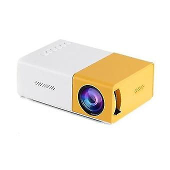Multimedia projectors 400 lumens mini led projector portable video projector with built-in speaker remote control