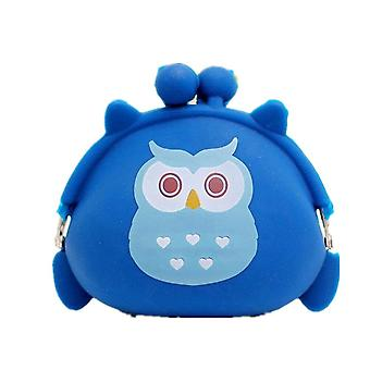 4 Pcs Candy Owl Wallet Silicone Small Pouch Cute Coin Purse for Girl Key Rubber Wallet Children Mini