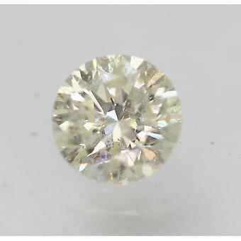 Certified 0.50 Carat J SI1 Round Brilliant Enhanced Natural Loose Diamond 4.91mm