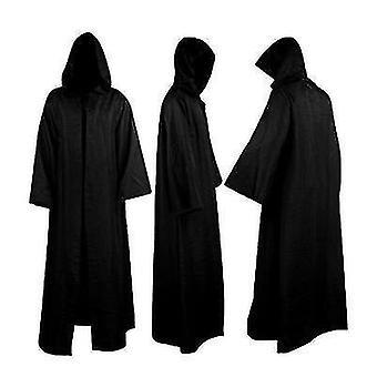 Black Warrior Costum Jedi Warrior Knight Fancy Cool Cosplay Costum (XL)
