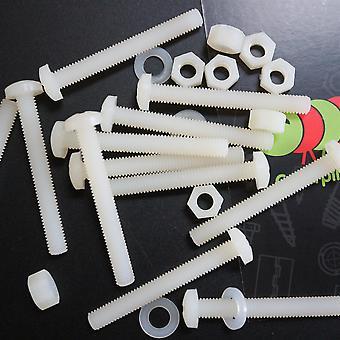 50 x Nylon Pan head, plastic machine screws, M5 x 40mm, Bolts, Nuts & Washers