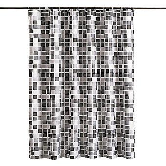 Badkamer Douchegordijn Hotel Kwaliteit Waterdicht Wasbaar (180x200) (Zwart)