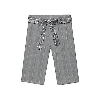 Alouette Girls' Trousers In Wide Line From Pied De Poule Fabric