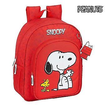 School Bag Snoopy Red