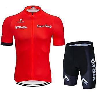 Black Cycling Jersey Set Uniform Bike Clothing Dry Wear Clothes Men's