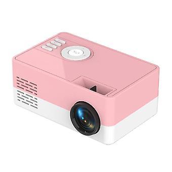 Mini Projector Supports 1080P HDMI USB(Pink)