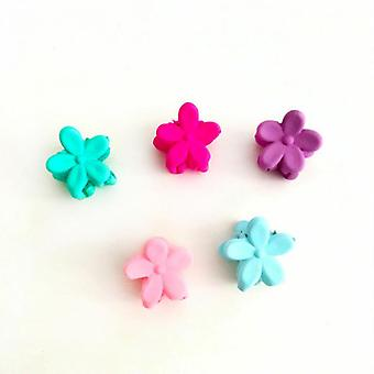 7-piece Set Of Frosted Flower Grabbing Clip Hairpin