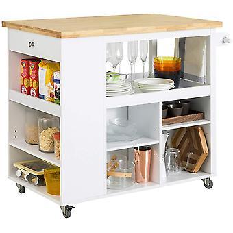 SoBuy FKW97-WN Trolley sobre ruedas Gabinete de almacenamiento de cocina