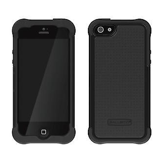 Ballistic Shell Gel Case for Apple iPhone 5 (Black/Black)