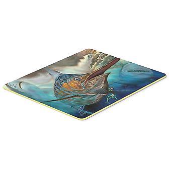 Bath mats rugs carolines treasures jma2000jcmt running the guantlet blue marlin kitchen or bat