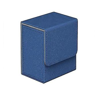 Card games cards box storage for 100+ pieces of trading game cards tcg pokemon ccg mtg yugioh dark blue