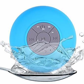 Drahtloser tragbarer Bluetooth-Lautsprecher, wasserdicht und duschenfreundlich. (Blau)