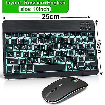 Rgb Bluetooth Tastatur und Maus Set russisch spanisch drahtlose Tastatur Maus Combo wiederaufladbare rgb