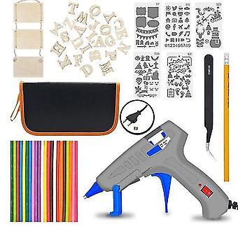 Eu/uk/us 30w regelbare temperatuur elektrische soldeerbout lassen gereedschap kits (Eu)