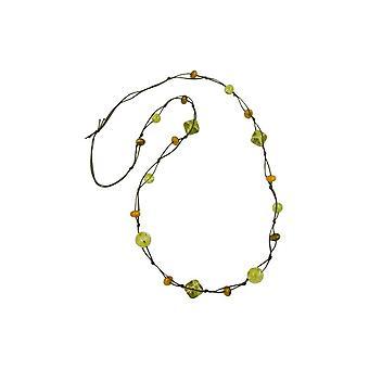 Necklace Beads Olive-crash 110cm 45264 45264 45264