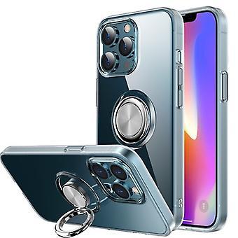 Iphone 13 Mini(5.4)läpinäkyvä Matkapuhelinkotelo Rengas Rengas Autonpidike Putoamiseneston suojakuori