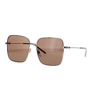 غوتشي GG0443S 002 نظارات ذهبية / براون