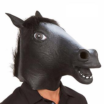 Halloween Party Mask Latex Mask Stage Performance Props Funny Funny Halloween Horse Head Mask Headdress Cos Dress Up