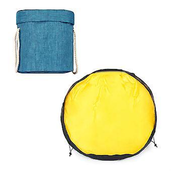 דלי אחסון נושא מתקפל של Silktaa עם תיק אחסון לכיסוי סקוטש
